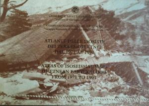 ATLAS OF ISOSEISMAL MAPS OF ETNEAN EARTHQUAKES FROM 1971 TO 1991